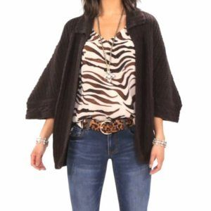 Cabi Repose Cape Sweater Brown XS #3702